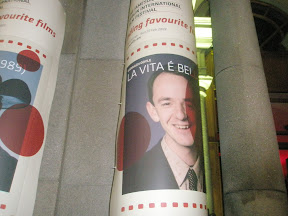 Poster as described above wrapped around a pillar outside Dublin's Odeon bar