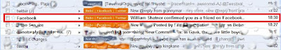 images shows gmail inbox with highlighted email reading William Shatner has confirmed you as a friend on Facebook.