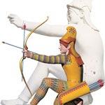 Arquero parides, restauración del color