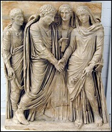 matrimonio romano - sarcófago- Capodimonte