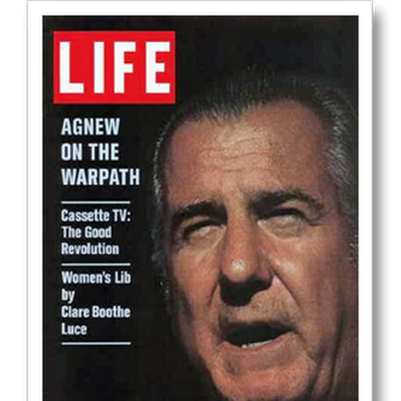 "Spiro Agnew vs. the ""effete intellectuals"" and ""nattering nabobs""…"