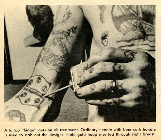 But the tattooed women shown in the Men in Danger story were ahead of their