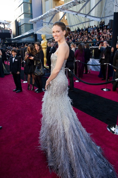 Hilary Swank arrives for the 83rd Annual Academy Awards® at the Kodak Theatre in Hollywood, CA February 27, 2011.