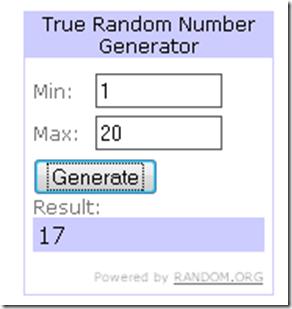 sorteio 1 ganhador