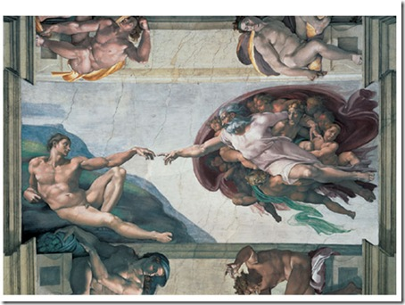 Criação de Adão, Michelangelo, 1508-1512 - capela Sistina