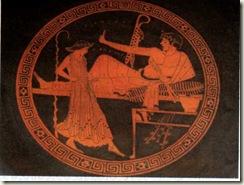 Taça ática de fiuras vermelhas (Período Clássico, 490-480 a. C)