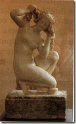 Afrodite de Rodes, em mármore (Período Helenístico, 100 a. C)