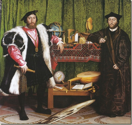 Os Embaixadores Franceses, Holbein, 1533, NG, Londres