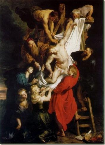 Descida da Cruz, Rubens, c. 1612. Catedral da Antuérpia.