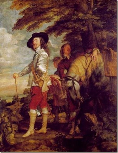Carlos I na Caçada, van Dyck, 1635, Louvre, Paris.