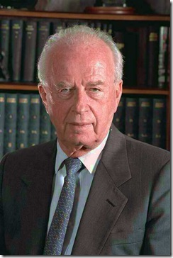 Itzhak Rabin, primeiro-ministro de Israel, assassinado em 1995.