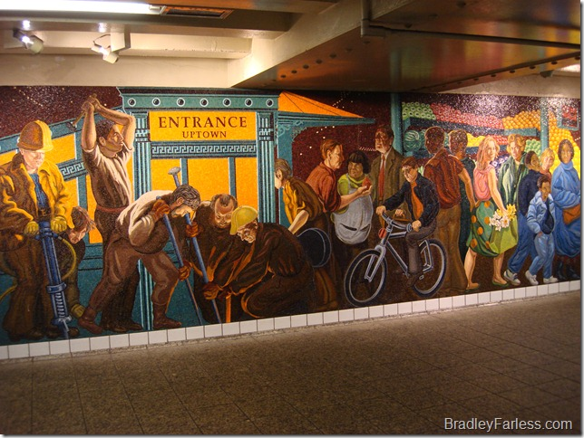 The Return of Spring, Glass Mosaic by Jack Beal at Times Square subway station.