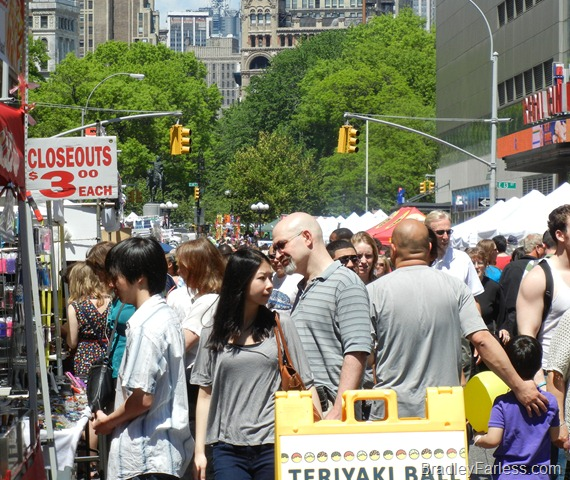 A street fair on Broadway near Union Square Park.