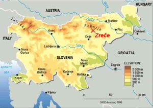 Location map for Zreče
