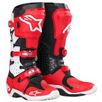 Motocross Boots Alpinestar Tech 10 Red White