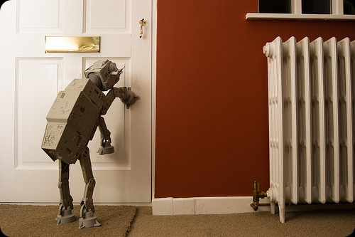cool star wars photos AT AT trying to get out - like a dog