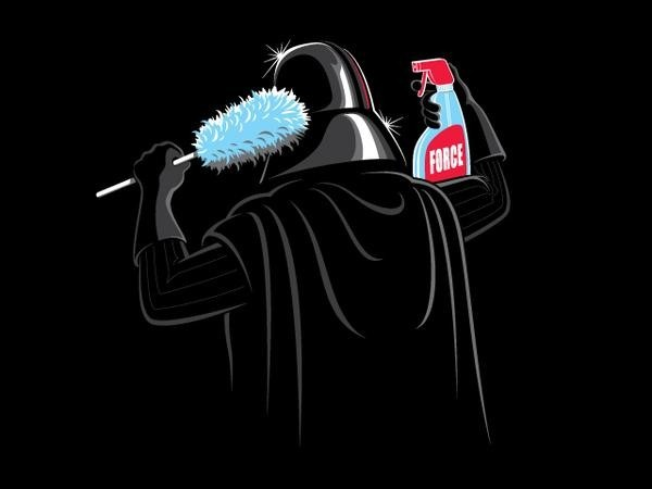 cool star wars photos darth cleaning head