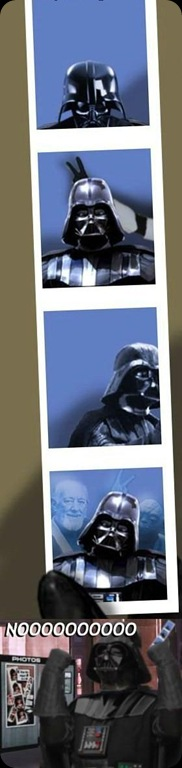 cool star wars photos darth in a photo booth