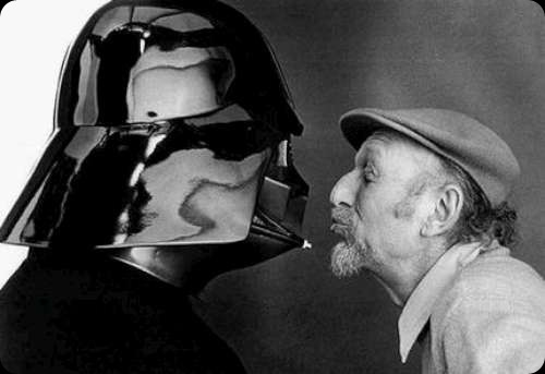 Cool Star Wars behing the scenes vader and the director