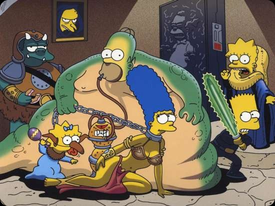 cool star wars photos the simpsons homer the hutt