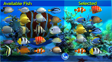 Screenshot of Sim Aquarium Live Wallpaper