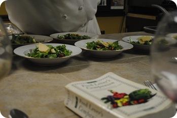 Arugula Salad with Parmesan, Apples, Cranberries, and Grapes