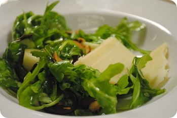 Arugula Salad with Parmesan, Apples, Cranberries, and Grapes
