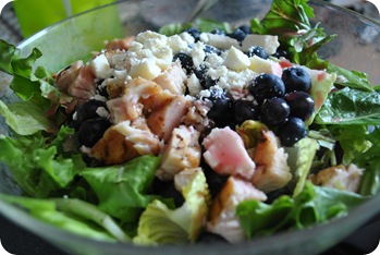 feta, berry, chicken salad