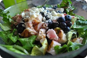 feta, berry, chicken salad