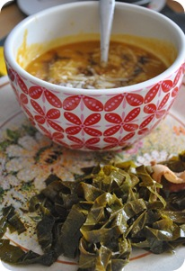 butternut squash soup and collards