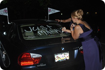 decorating the car