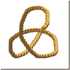 Plaited Braid Essential Path is Like a Triquetra