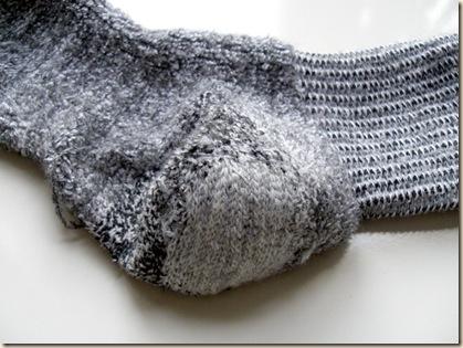 finished inside of sock
