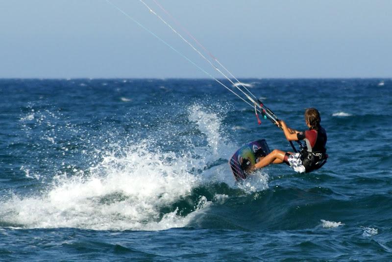 Kitesurf, Oliva Espanha, eles voam baixinho