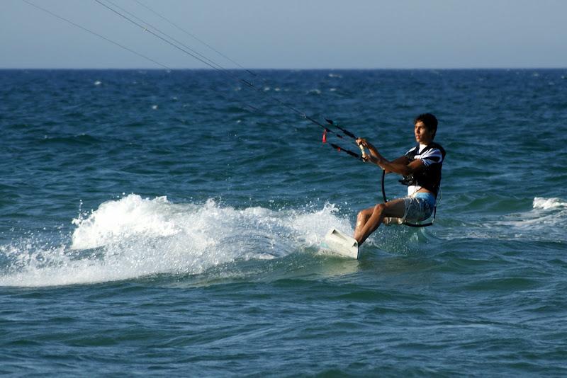 Kitesurfing, voando baixinho