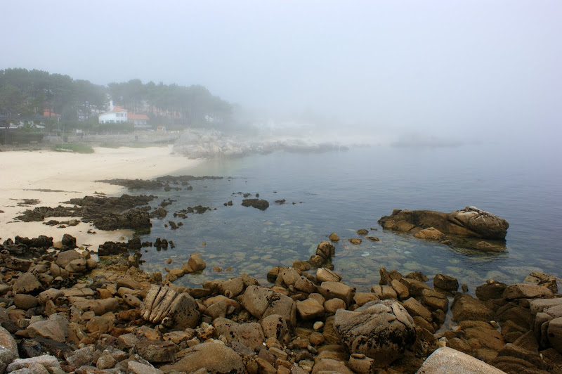 San vicente del MAr, praia com Neblina