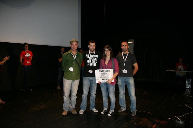 O xurado trasnego con Dolores Iglesias, directora da curta pemiada como mellor en galego, RC14