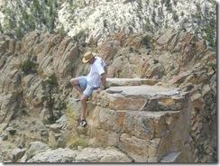 Dick rock climbing
