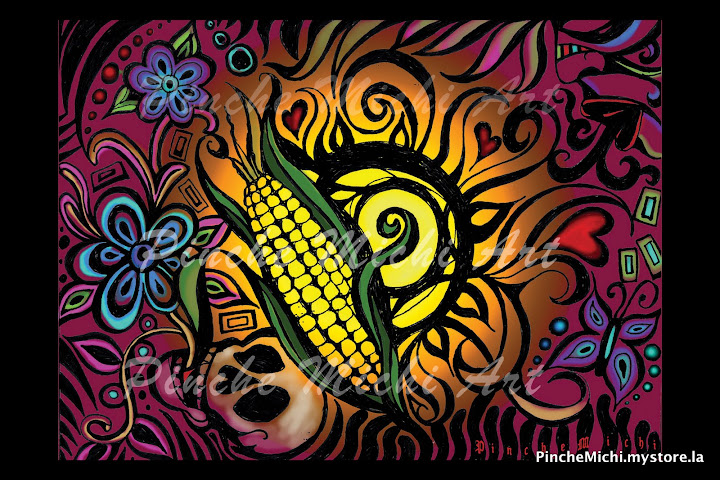 Color & Corn Poster