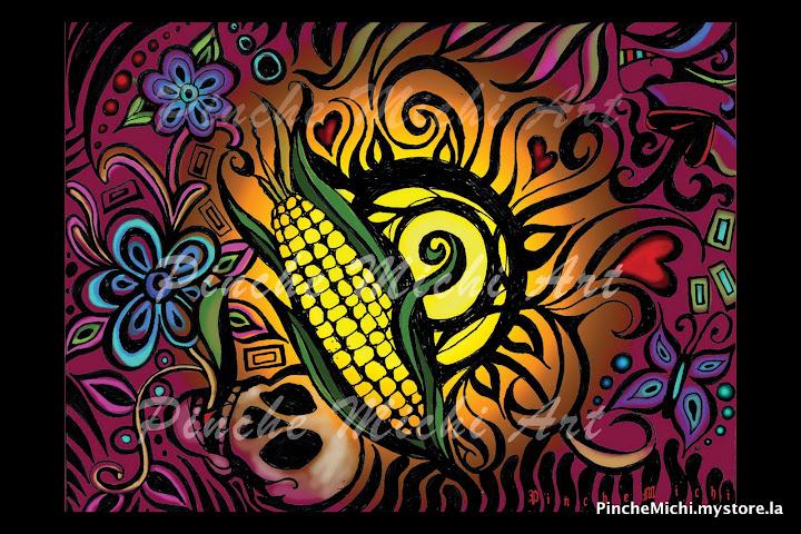 Color & Corn Poster