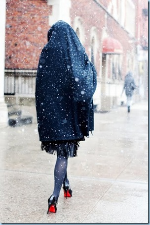 Walking in the snow from The Sartorialist