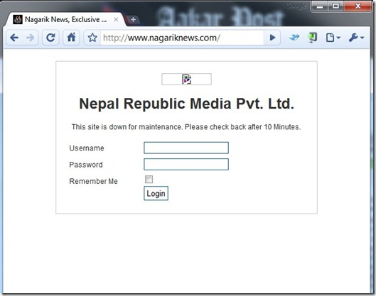 NagarikNews is Down