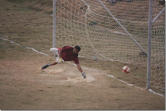 goal..... unsuccessful dive of goalkeeper deependra upreti
