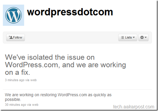 wordpress tweet