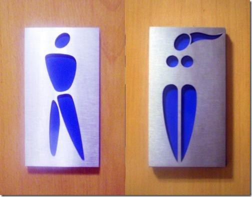 Cool BathRoom Sign