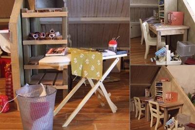 Bellevu hobbykamer weergegeven