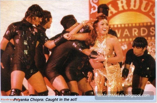Priyanka Chopra has an Wardrobe Malfunction during one of her Performance - Unseen Picture!