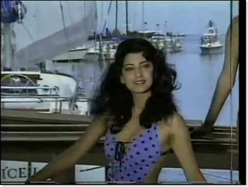 Juhi Chawla's Sexy Swimsuit Video from the Miss World Pageant...