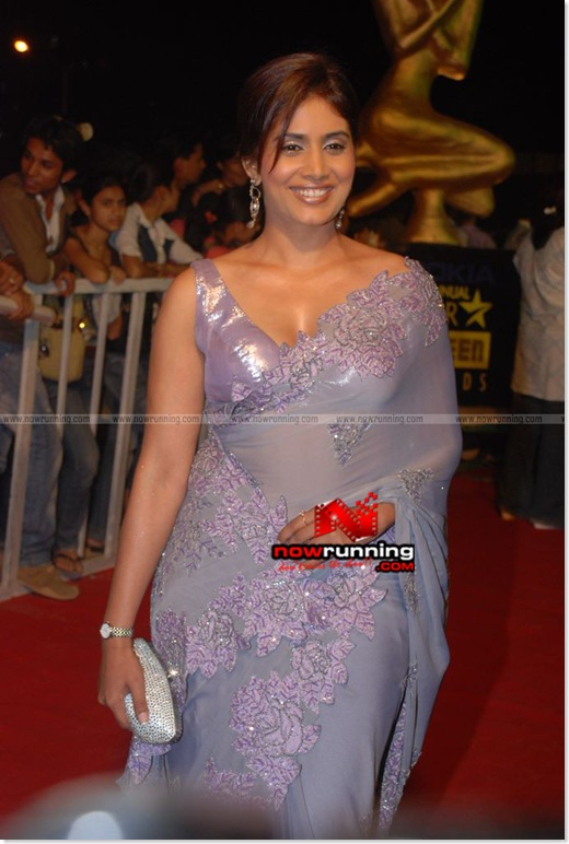 Sonali Kulkarni Looking Hot in a Sexy See Through/Transparent Saree at the Star Screen Awards...