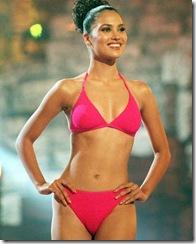 Miss India Lara Dutta, 21, models swimwear during the Miss Universe 2000 pageant in Nicosia